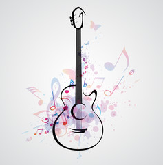 Stylized guitar © artspace