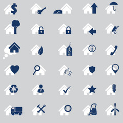 Various house icon set of 30