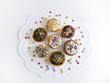 Muffins auf Tortenspitze