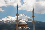 Karkın mosque and Mount Hasan (Turkey)