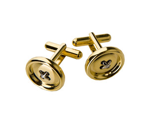 golden cufflinks