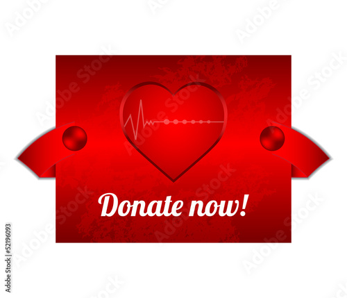 red blood donation background with special design