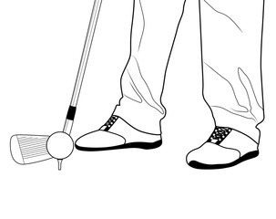 Cropped image of a golfer