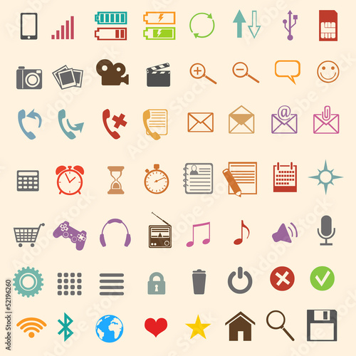 56  color mobile icons