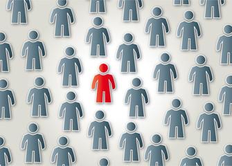 Gruppe, Individualität, Teamfähig, Anders, einzigartig