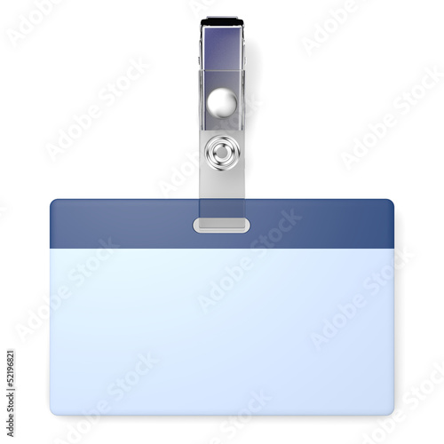 3D realistic render with blank badge and copyspace