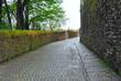 Calle mojada tras la lluvia