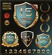 Anniversary golden shields