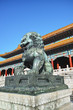 Copper lion sculpture in  Forbidden City, Beijing