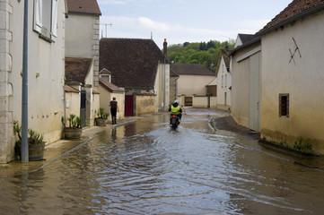 Inondations dans la région de Chablis