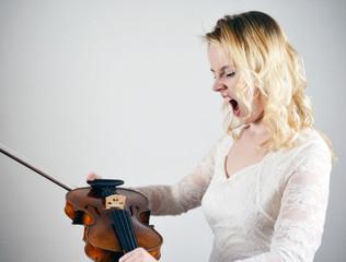 Angry Violin Student