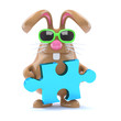 Chocolate bunny solves the puzzle