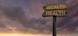 sign direction wealth - helth