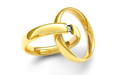 Ringe mit Diamant, Konzept Hochzeit