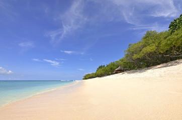 Beautiful Beach with Palm trees on Gili Gili Islands