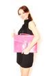 junge Geschäftsfrau mit Aktentasche
