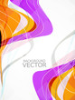abstract rainbow business technology colorful wave vector