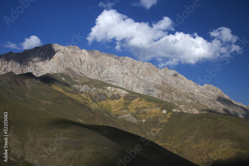 Mountains close to Arslanbob, south of Kyrgyzstan