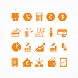 Set 20 icons finance_orange