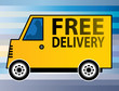 Free Delivery truck, vector illustration
