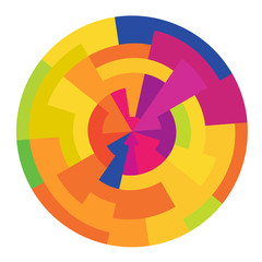 Abstract colorful circle, vector