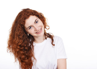 Portrait of the red-haired girl