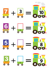 mathematical trains , adding