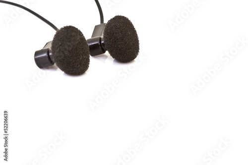 Ear phone isolated on a white background