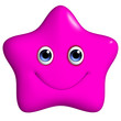 3d cartoon cute pink star