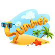 vector summer illustration