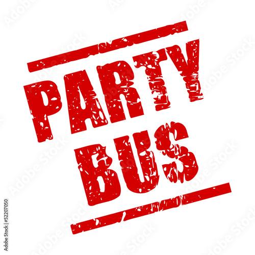 stempel eckig party bus I
