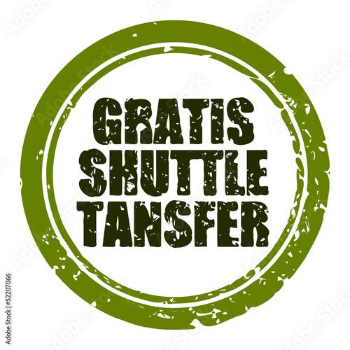 stempel rund gratis shuttle transfer I