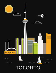 Toronto city. Vector