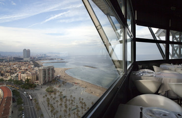barcelona skyline view