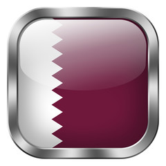 qatar square metal button