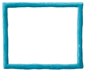 Empty blue frame