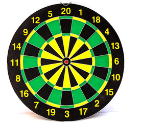 Dart board isolated