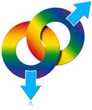 Gay Male Rainbow Colored Symbol
