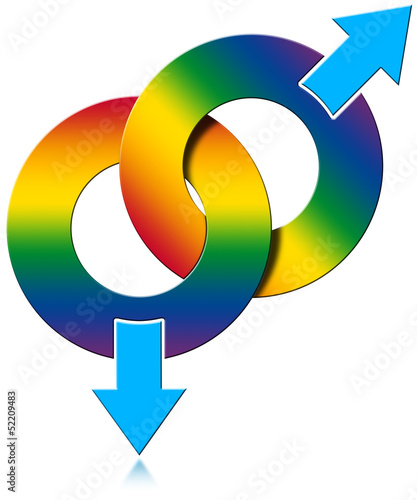 Gay Male Rainbow Colored Symbol