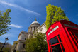 St Paul's cathedral and phone box