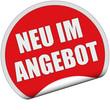 Sticker rot rund cu NEU IM ANGEBOT