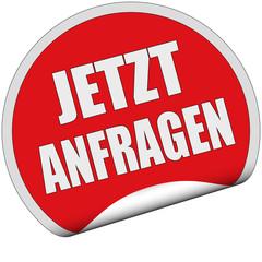 Sticker rot rund cu JETZT ANFRAGEN