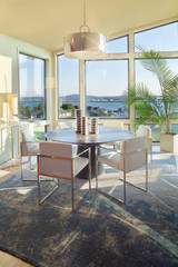 Dining Room with View in New Luxury Home