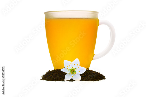 tea composition with flower