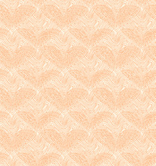 Beige seamless pattern with linear hearts