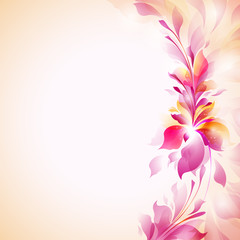 "elegant vector template ""abstract flowers"""