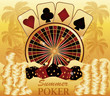 Summer poker time. Casino card. vector illustration