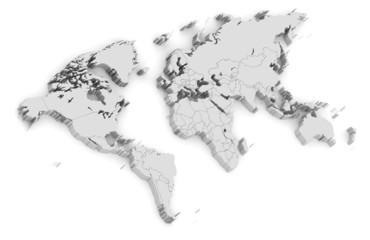 3d world map isolated