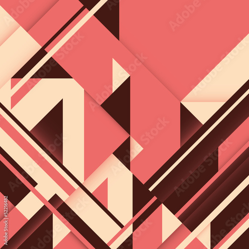 Abstract graphic with geometric shapes.