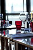 Restaurant, table, couverts, bistrot, verres, objet, service
